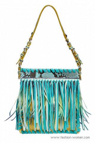 Модная сумка с бахромой от Christian Dior