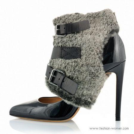 туфли с мехом от Ballin