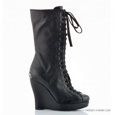 модная обувь на шнуровке осень 2010