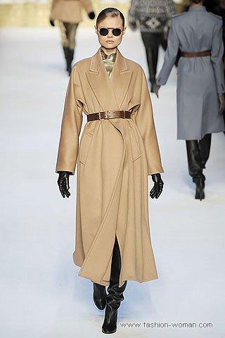 модное бежевое пальто от MaxMara
