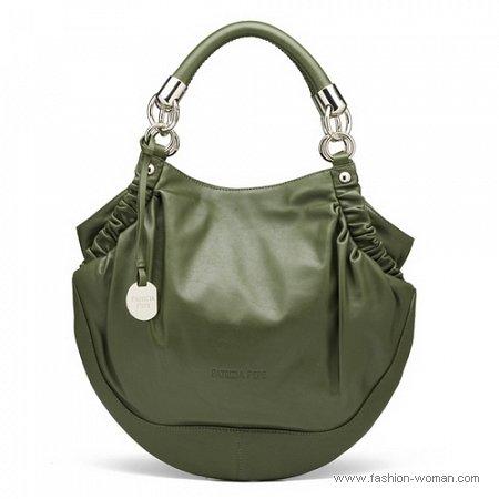 сумка оливкового цвета от Patrizia Pepe