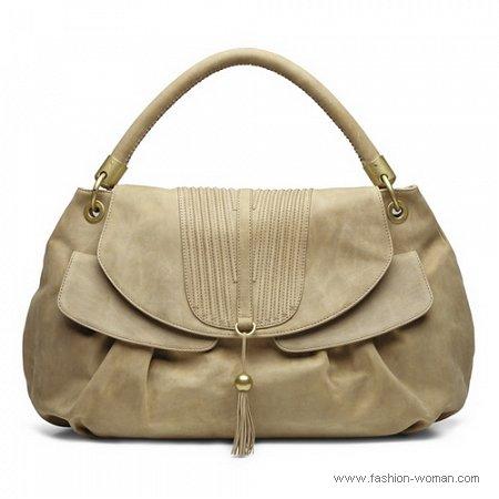 модная бежевая сумка осень-зима 2010-2011