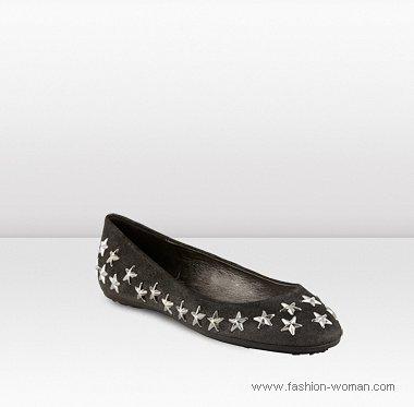 черные балетки со звездами