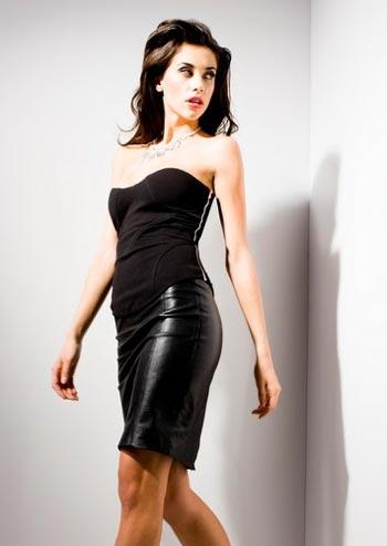 корсет и кожаная юбка от Kardashians By Bebe осень-зима 2010-2011