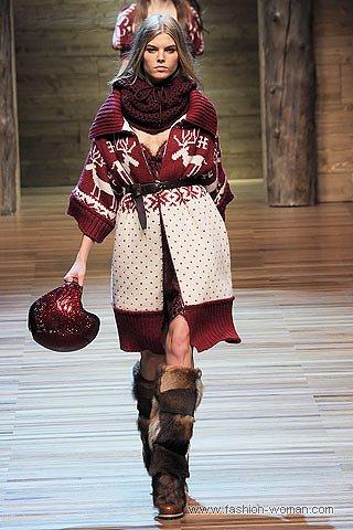 Объемный кардиган от Dolce & Gabbana осень-зима 2010-2011
