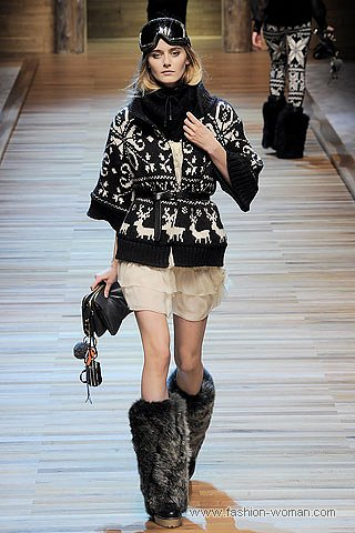 Кардиган от Dolce & Gabbana с жаккардовым (норвежским) узором