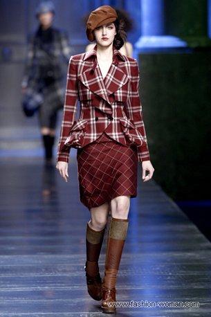 Наряд в клеточку от Christian Dior