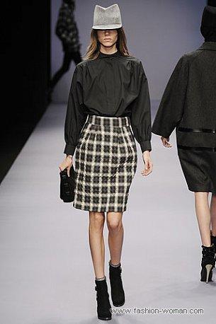 Модная юбка в клетку осень 2010