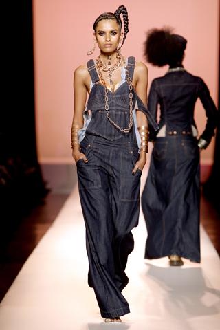 джинсовый комбинезон от Jean Paul Gaultier