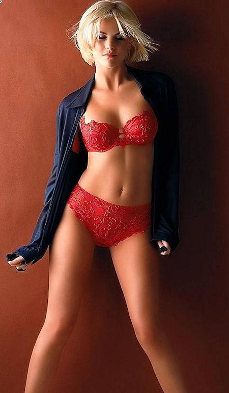 Красивое красное бельё фото 523-437