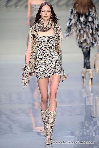 Платье с леопардовым принтом от Blumarine