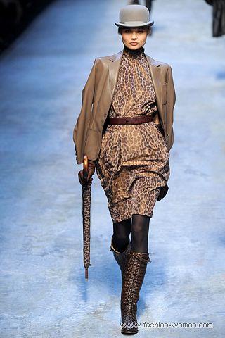 Платье с леопардовым принтом от Hermes