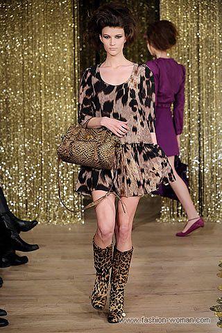 Леопардовый наряд от Mulberry
