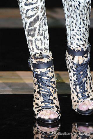 Ботильны с леопардовым принтом