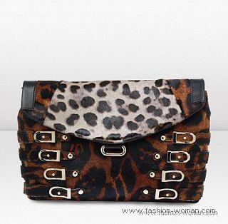 Модный клатч с леопардовым принтом