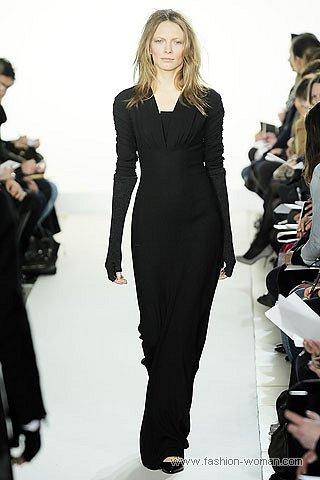 стильное макси-платье осень-зима 2010-2011