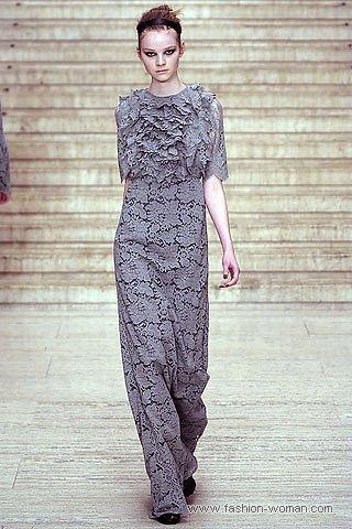 Ажурное макси-платье