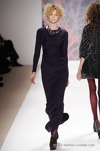 Черное макси-платье осень-зима 2010-2011