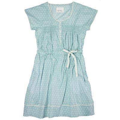 голубое домашнее платье