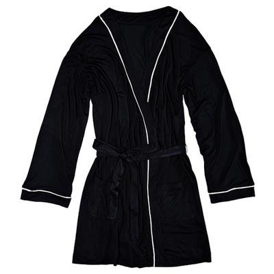 черный домашний халат