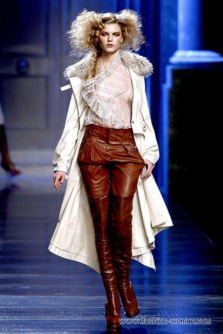 Кожаные брюки-галифе