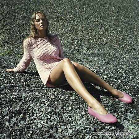 модные розовые галоши