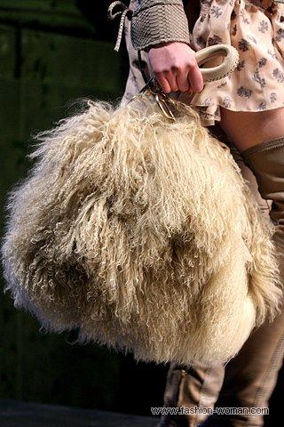 Сумка из меха козы