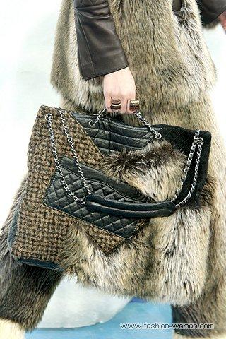 Сумка из меха от Шанель осень-зима 2010-2011
