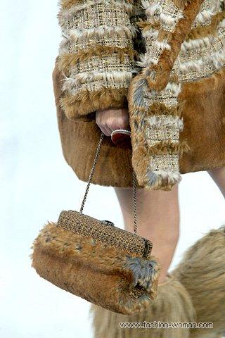 Меховая сумка от Шанель