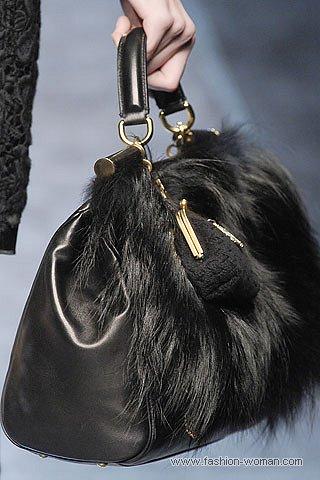 Модная сумка с мехом