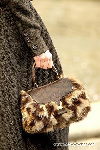 Меховая сумка от Луи Вуитон