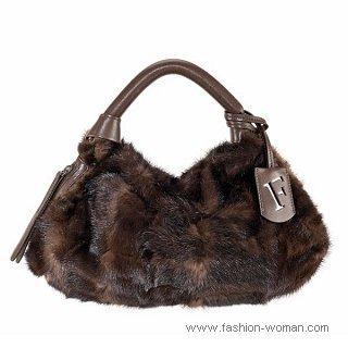Модная сумка из натурального меха