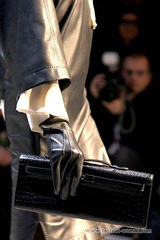 черные классические перчатки