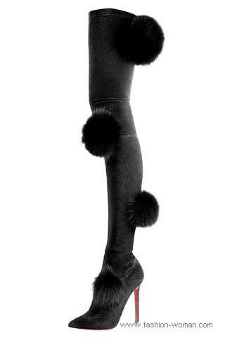 Модные сапоги-чулки от Сhristian Louboutin