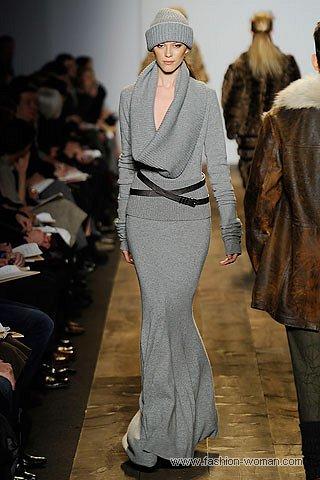 Трикотажная макси юбка
