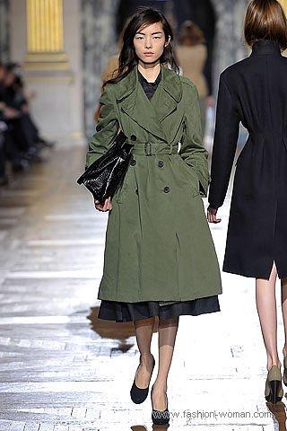 модный плащ от Dries Van Noten осень 2010