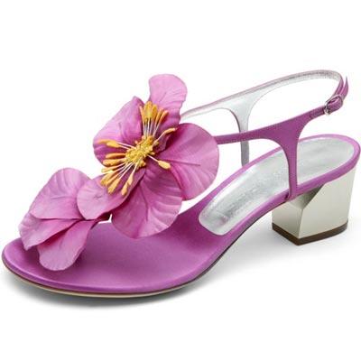 Босоножки с цветком - Женская обувь в