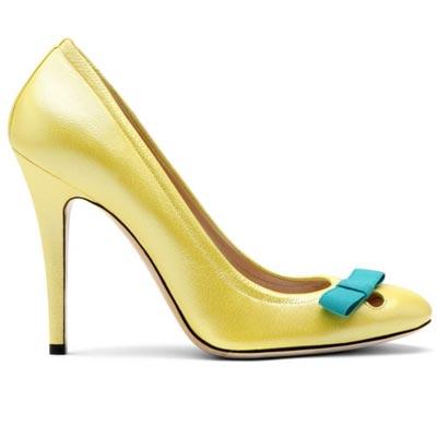 желтые туфли от  Casadei