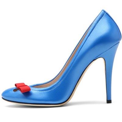 голубые туфли от  Casadei