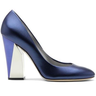 синие туфли от  Casadei