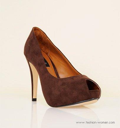 коричневые туфли MANGO