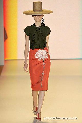 модная оранжевая юбка весна-лето 2011