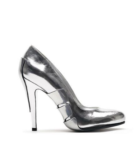 серебристые туфли от Raphael Young