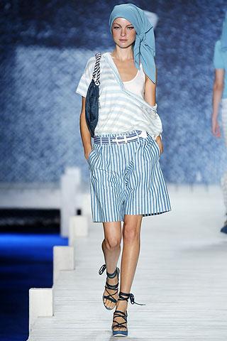 полосатые шорты от Lacoste
