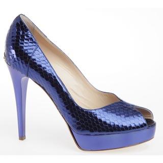 модные синие туфли 2010