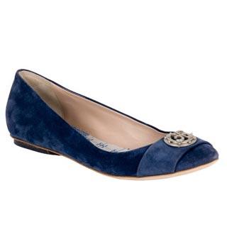 синие балетки от Фаби