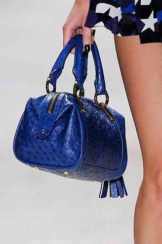 синяя сумка от Darek-Lam