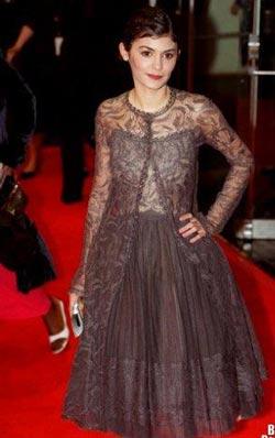 Audrey Tautou в пышном платье