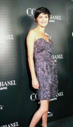 Audrey Tautou в платье-бюстье