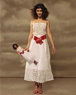 Audrey Tautou в белом платье